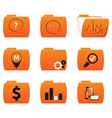 icons of folders with different signs vector image