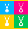 medal simple sign four styles of icon on four vector image