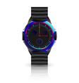 metallic men wrist watch vector image