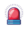 alarm light emergency isolated vector image vector image