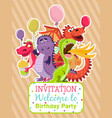 Baby dragons poster invitation card