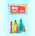 big sale -20 poster headline vector image