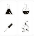 Biology design Lab icon Flat vector image vector image
