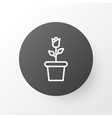 bloom icon symbol premium quality isolated floret vector image vector image