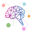 Brain abstract isolated vector image vector image