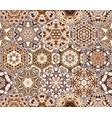 bright seamless pattern of hexagonal tiles with vector image vector image