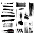 brushstrokes collection vector image