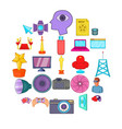 camera for movies icons set cartoon style vector image vector image
