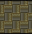 checkered gold 3d seamless pattern striped vector image vector image