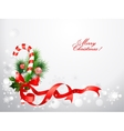 Christmas background with candy cane vector image vector image