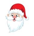 Classic Santa Claus Head vector image