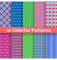 Colorful seamless patterns tiling vector image vector image