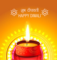 Creative background of diwali vector image vector image
