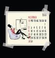 december american and canadian calendar vector image