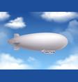 dirigible realistic background vector image vector image