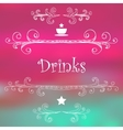 Drinks Monograms Lettering vector image vector image