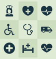 drug icons set collection of review disabled vector image vector image