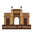 gateway of india indian architecture mumbai vector image vector image
