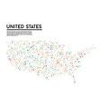 geometric simple minimalistic style united states vector image