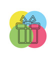gift box holiday present package vector image