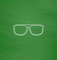 Glasses computer symbol vector image vector image