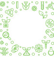 gmo free green thin line or vector image vector image