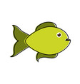 green fish sideview icon image vector image vector image