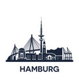 hamburg city skyline germany extended version vector image vector image