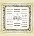 hand drawn pattern brushes vector image vector image