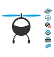 Helicopter Icon With Free Bonus vector image vector image