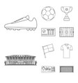 isolated object of soccer and gear sign set of vector image vector image