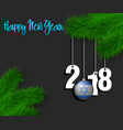 israel flag and 2018 on a tree branch vector image
