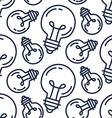 Lamp Bulb Pattern vector image
