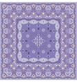Lilac handkerchief with delicate blue ornaments vector image vector image
