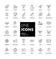 line icons set start up vector image vector image