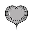 line nice heart to love and romance symbol vector image vector image