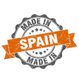 made in spain round seal vector image vector image