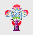 marker sketch drawing of egyptian decoration lotus vector image