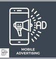 mobile advertising icon vector image vector image
