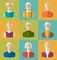 old people icons faces old men grandfathers vector image vector image