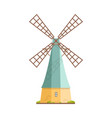 old windmill isolated on white background dutch vector image vector image