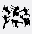Pakour dancer material art sport silhouette vector image vector image