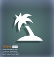 Palm Tree Travel trip icon symbol on the vector image vector image
