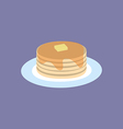 Pancakes with Maple Syrup and Butter vector image