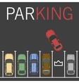 parking lot car vector image