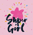 Print for T-shirt Seamless pattern Super girl vector image vector image