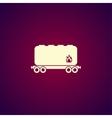 Railroad tank icon vector image