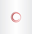round spiral red circle frame vector image vector image