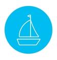 Sailboat line icon vector image vector image