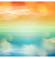 sea sunset tropical background vector image vector image